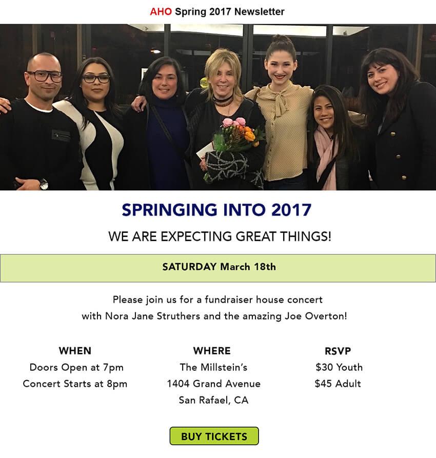 AHO Spring 2017 Newsletter